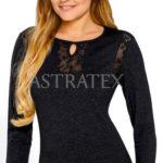 Elegantní dámské triko Babell Philippe s krajkovými vsadkami