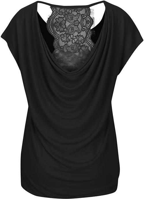 Dámské tričko s vodopádovými zády