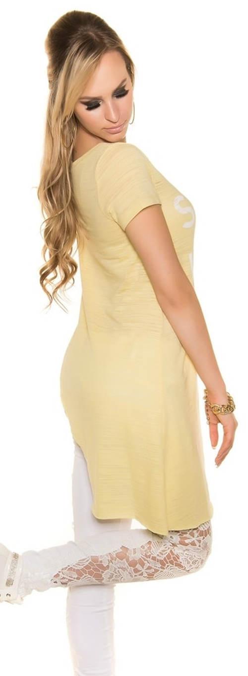 Dlouhý žlutý dámský top