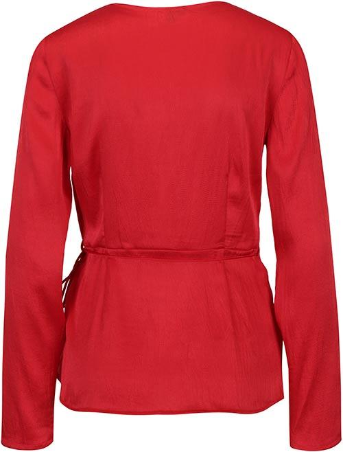Rudý top s dlouhými rukávy