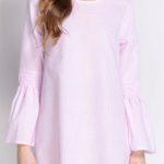 Růžová tunika s dlouhými rukávy