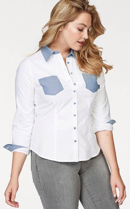 Bílá košile pro plnoštíhlé