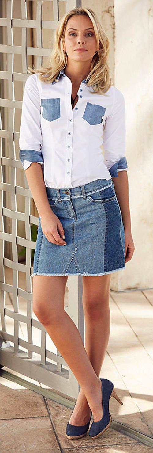 Dámská košile džínového vzhledu