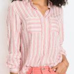Pruhovaná dámská košile s kapsami