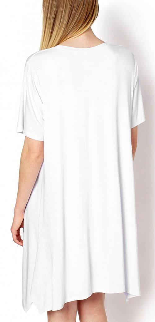 Volná bílá delší tunika