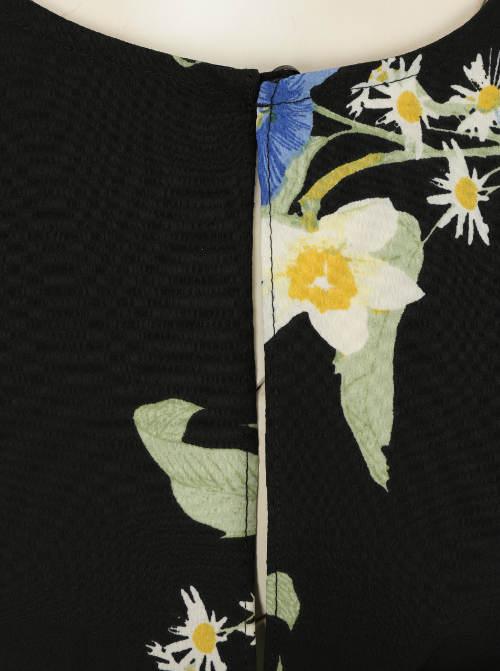 Barevné květy na černém podkladu