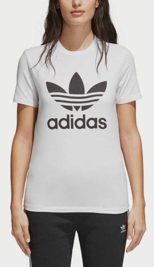 Bílé tričko adidas Originals Trefoil Tee