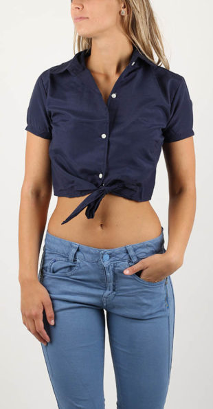 Letní dámská košile s uzlem