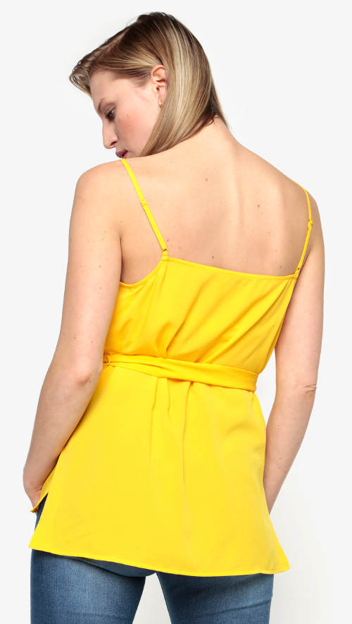 Žluté tílko s nastavitelnými ramínky