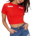 Krátké letní červené tričko