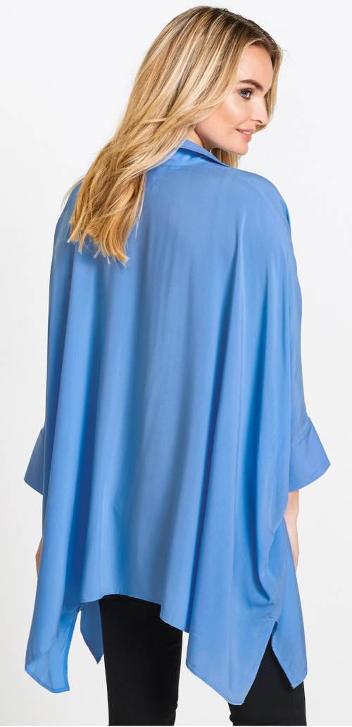 Světle modrá volná tunika