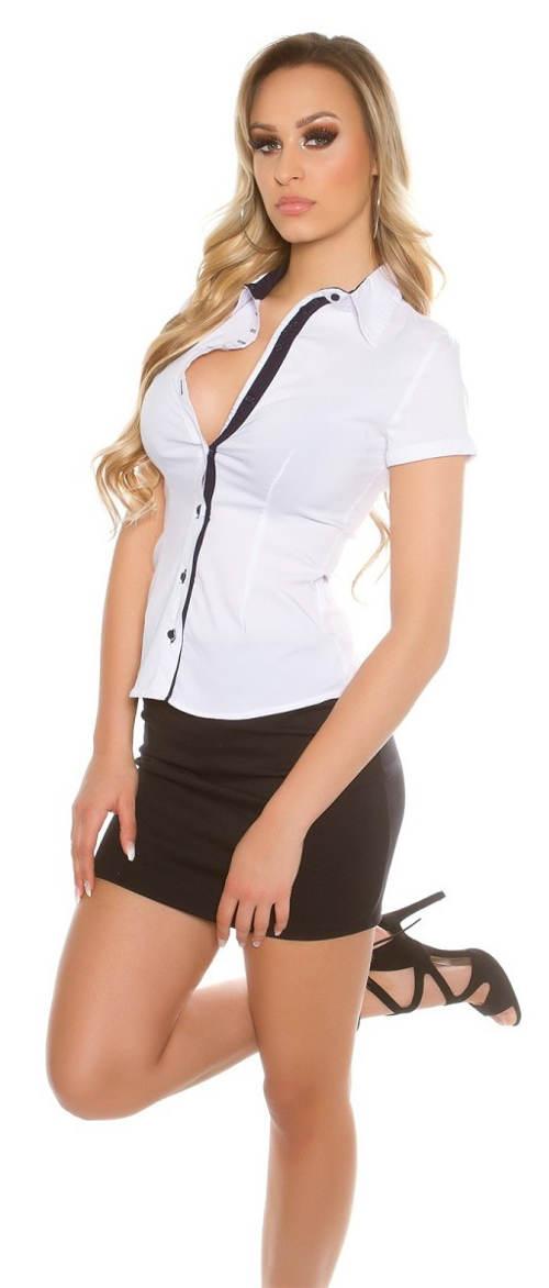 Bílá dámská společenská košile