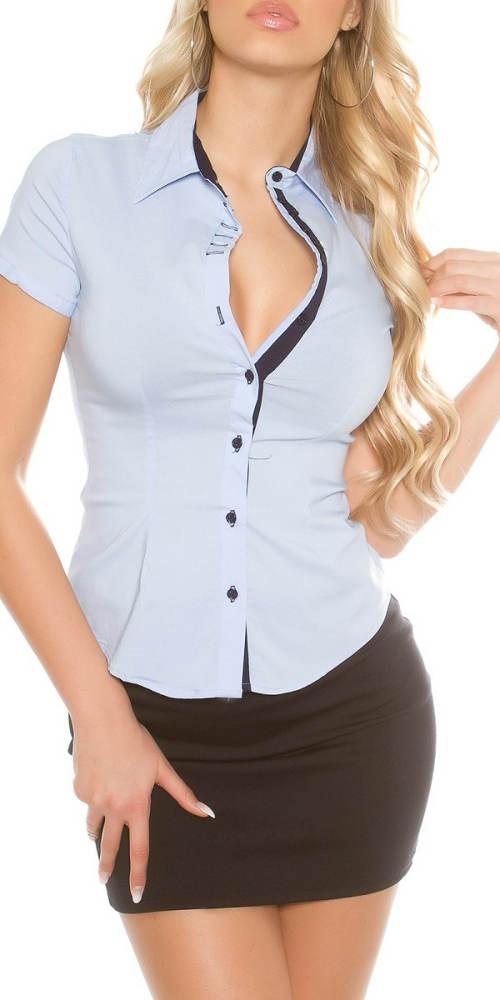 Dámská společenská košile s krátkým rukávem
