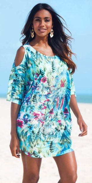 Plážové šaty pro plnoštíhlé