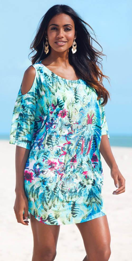 916751f86 Plážové šaty pro plnoštíhlé