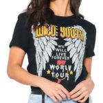 Rebelské metalové tričko s potiskem