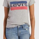 Šedé dámské tričko LEVI'S