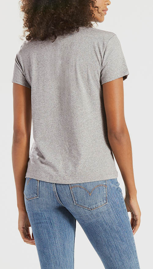 Šedé tričko s krátým rukávem LEVI'S