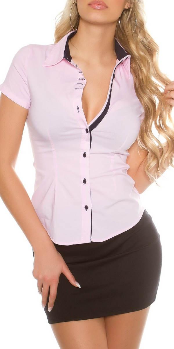 Světle růžová dámská košile