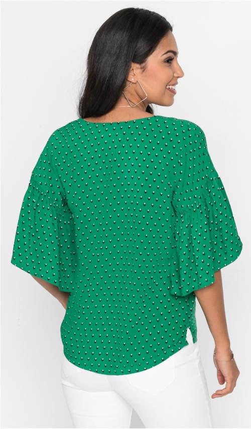 Zelený vzdušný dámský top