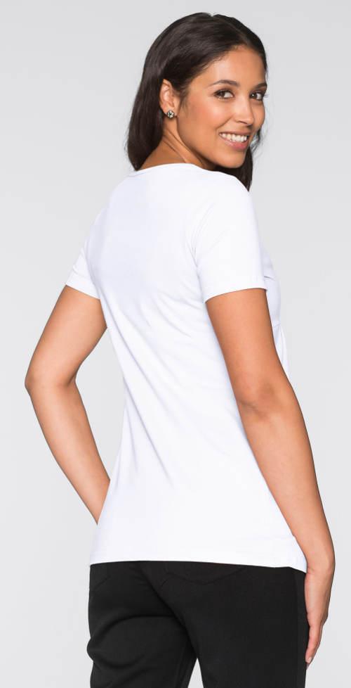 Bílé tričko pro těhotné