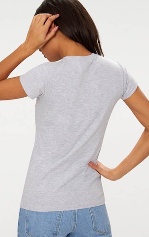 Šedé dámské tričko s krátkým rukávem