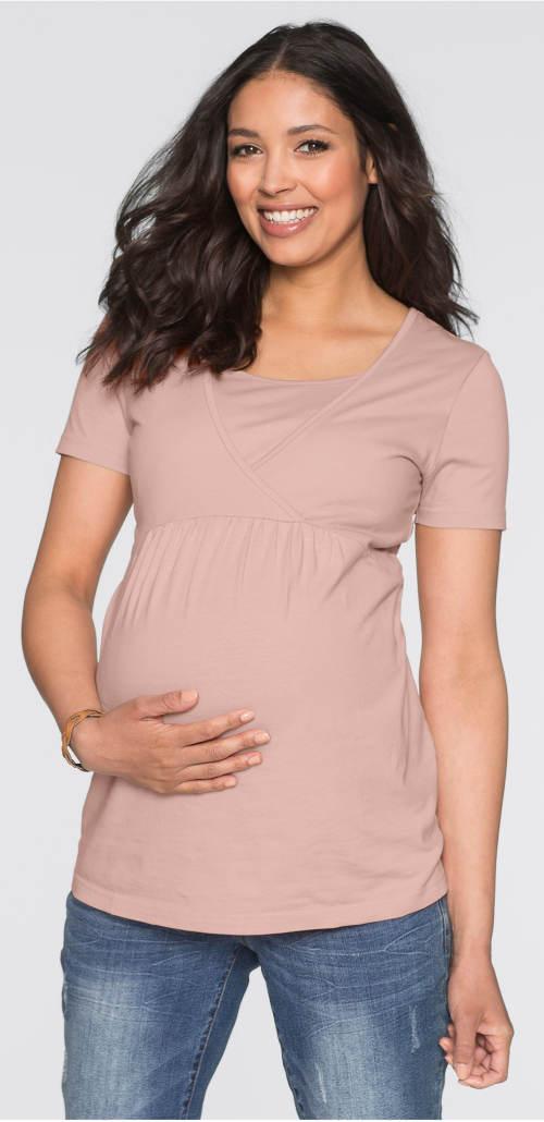 Těhotenské a kojící tričko