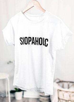 Dámské bílé tričko SHOPAHOLIC