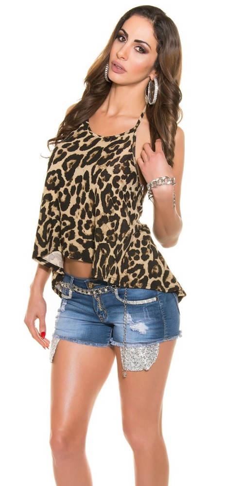 Leopardí letní tričko