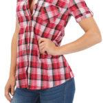 Výprodejová dámská karovaná košile