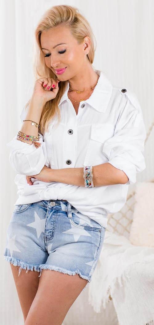 Bílá dámská oversized košile