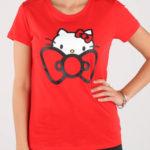 Červené tričko Converse Hello Kitty