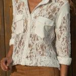Dámská košile z průsvitné krajky