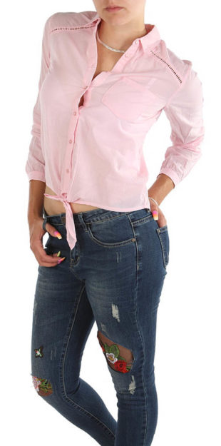 Levná růžová dámská košile