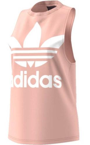 Růžové dámské tílko Adidas bez rukávu