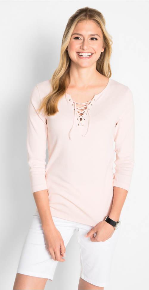 Světle růžové dámské tričko