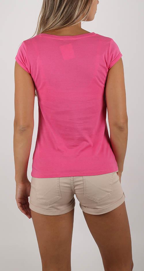 Levné růžové dámské tričko