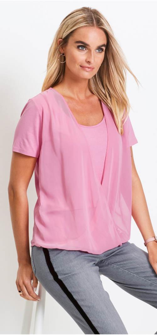 Moderní dámské šifónové tričko