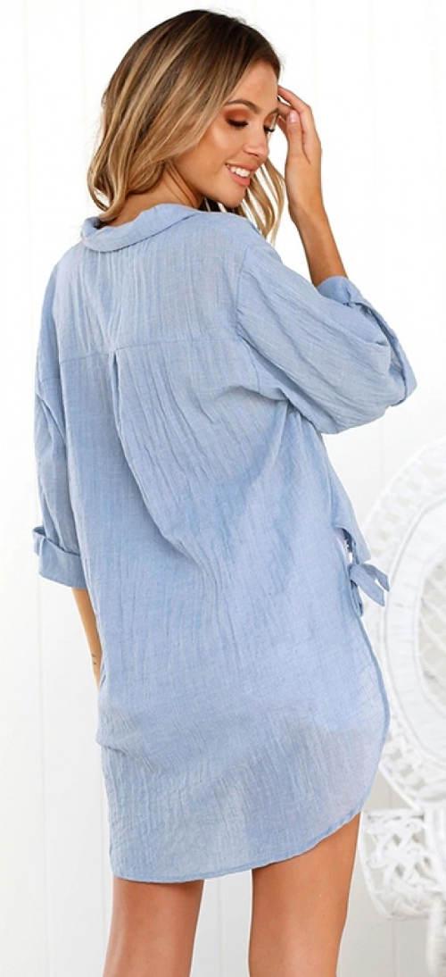 Dlouhá volná letní dámská košile