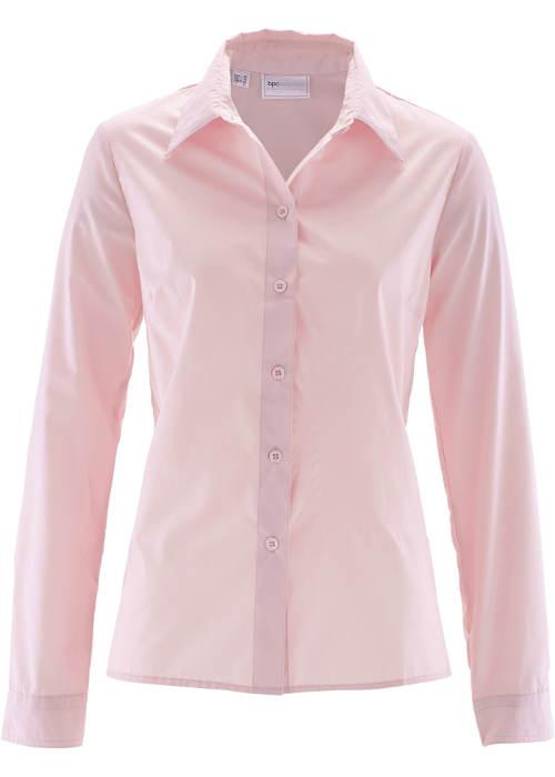 Jednobarevná růžová dámská košile