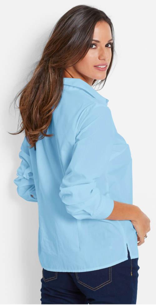 Jednoduchá dámská modrá košile