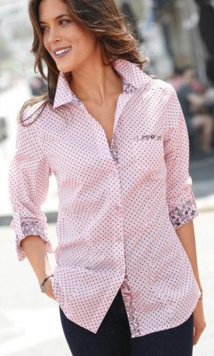 Puntíkovaná dámská košile