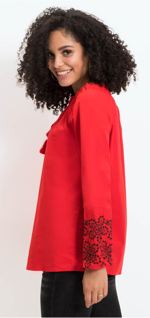 Volná červená dámská halenka
