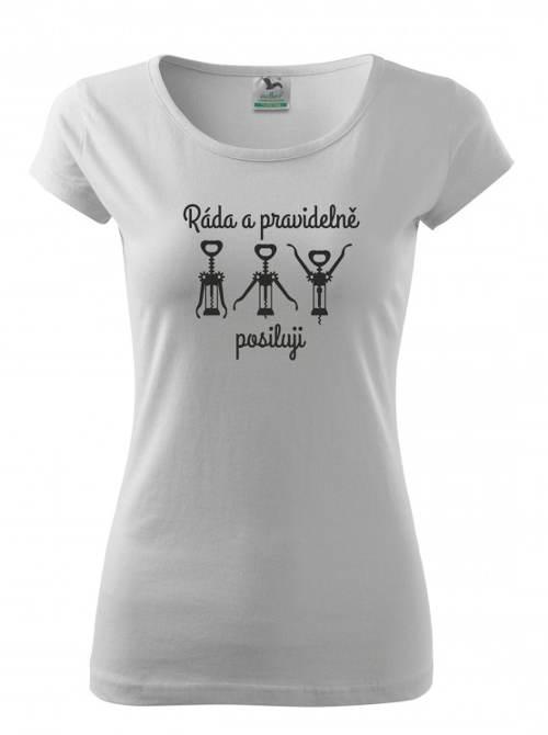 Bílé dámské tričko s vtipným potiskem