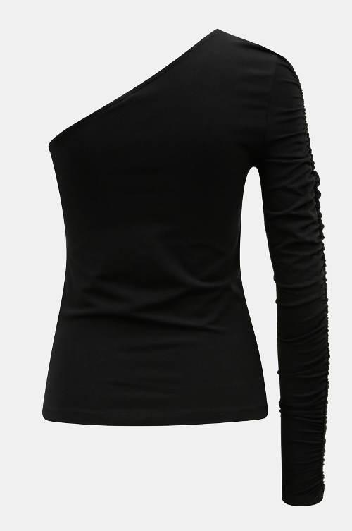 Černý dámský top na jedno rameno