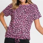 Dámské tričko Leopard s krátkým rukávem