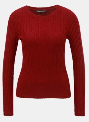 Lehký červený damský svetřík