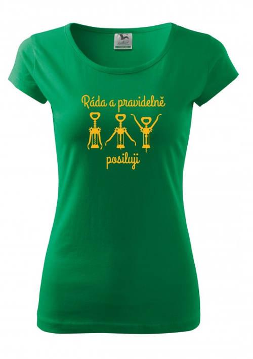 Zelené legrační dámské tričko
