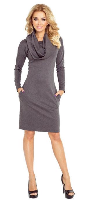 Zimní tunikové šaty s rolákem