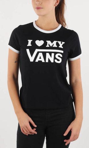 Černobílé dámské tričko I love my Vans